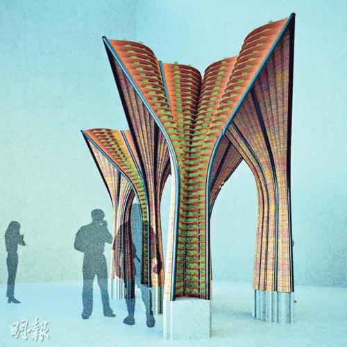 香港大学研3D打印技术造创意展亭 环保省时减废